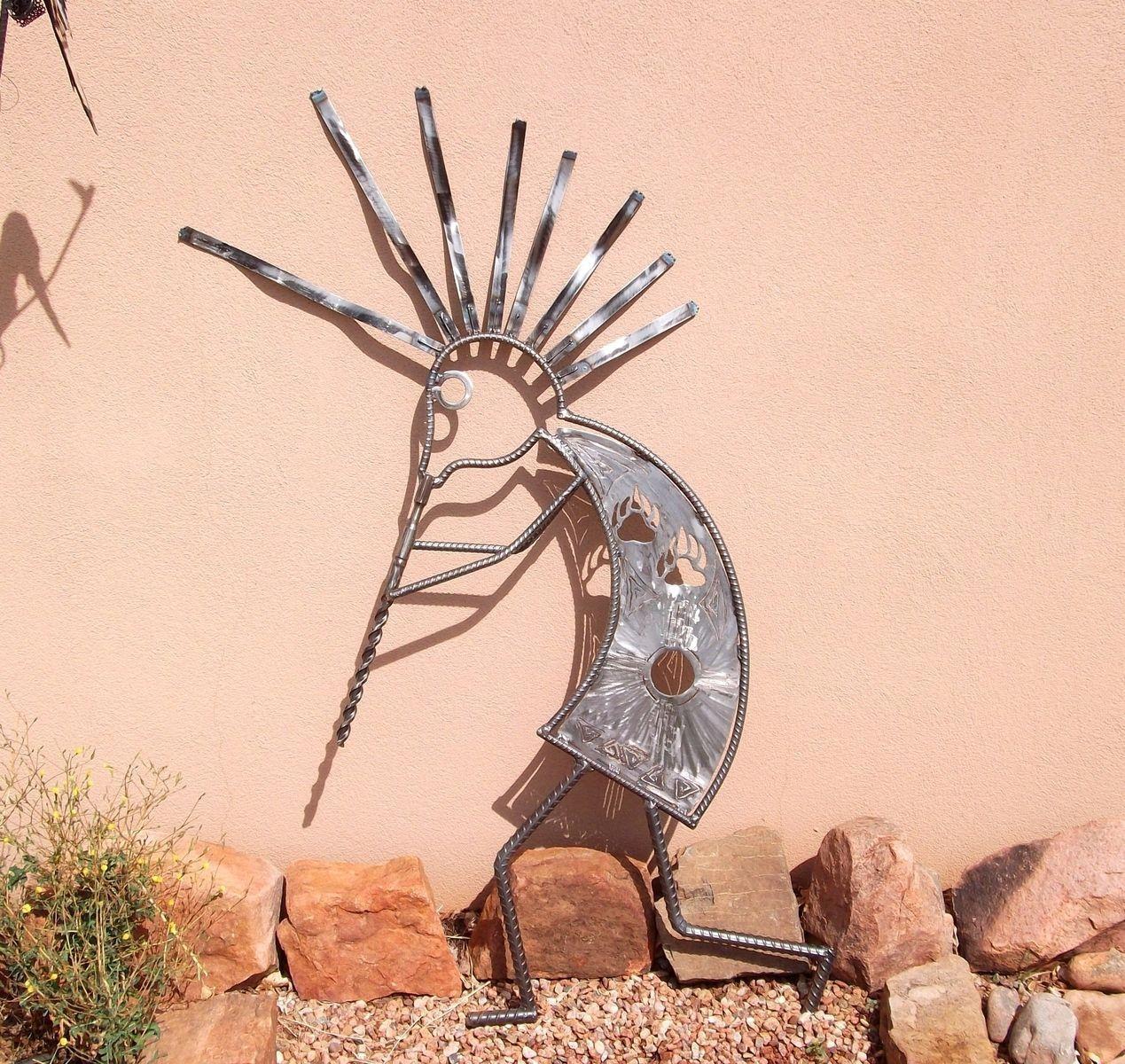 Handmade Garden Art, Home Decor,outdoor Sculpture Kokopelli Regarding Kokopelli Metal Wall Art (View 11 of 20)