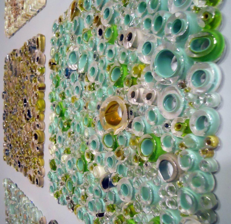 Handmade Glass Wall Panel Art Work, Fused Tubing Serieswolf In Fused Glass Wall Art Panels (View 7 of 20)