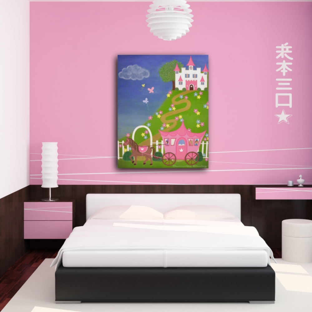 Happily Ever After - Kids Art Canvas Panel Children's Decor in Childrens Wall Art Canvas