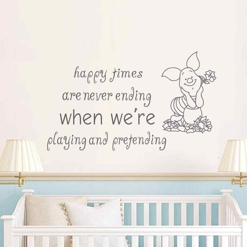 Happy Pooh Promotion Shop For Promotional Happy Pooh On Aliexpress Intended For Winnie The Pooh Nursery Quotes Wall Art (View 7 of 20)