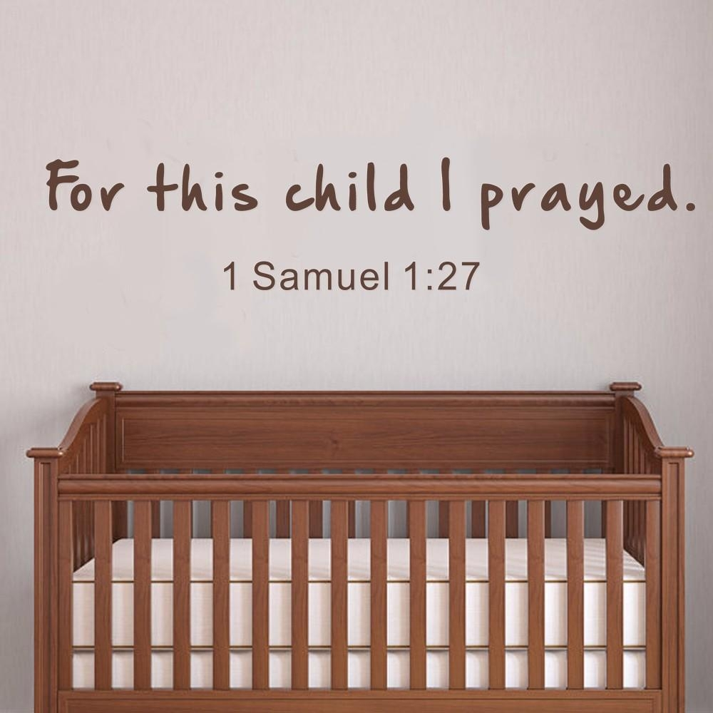 Have Prayed 1 Samuel Nursery Wall Decals Bible Verse Wall Quotes with regard to Nursery Bible Verses Wall Decals