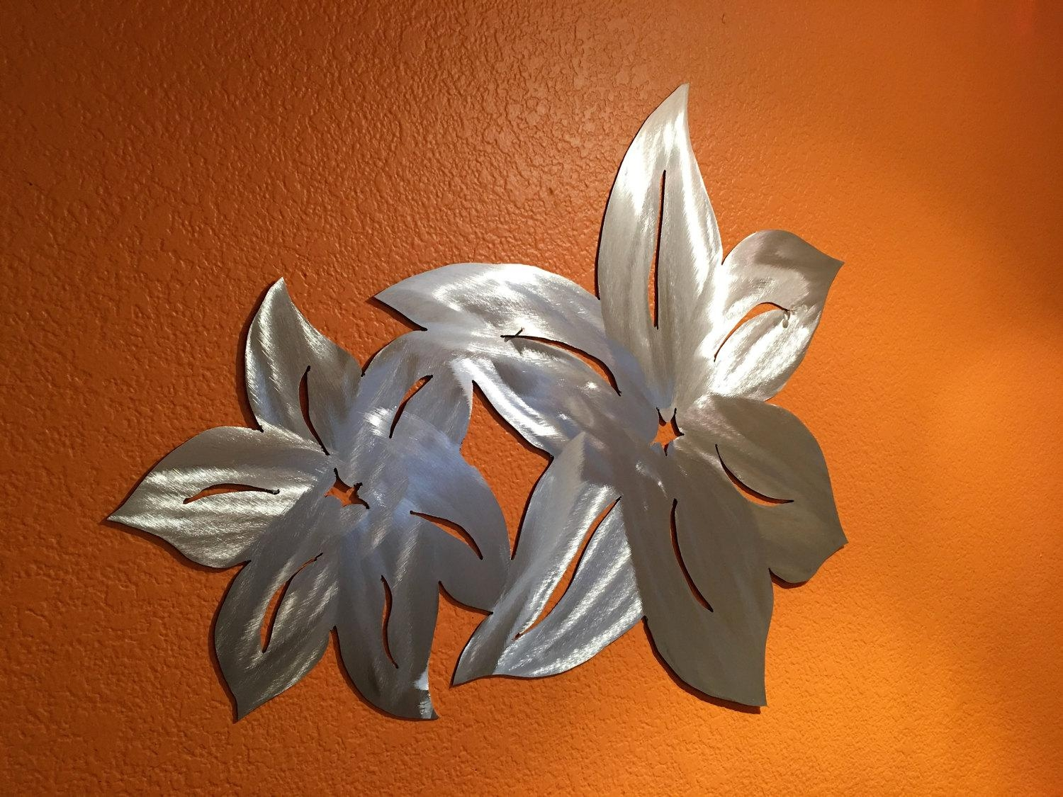 Hawaiian Flower Metal Wall Art. Flower From Hawaii (Image 7 of 20)