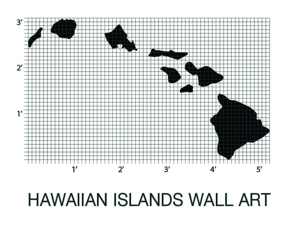 Hawaiian Islands Map | Picturesplusprints In Hawaiian Islands Wall Art (View 19 of 20)