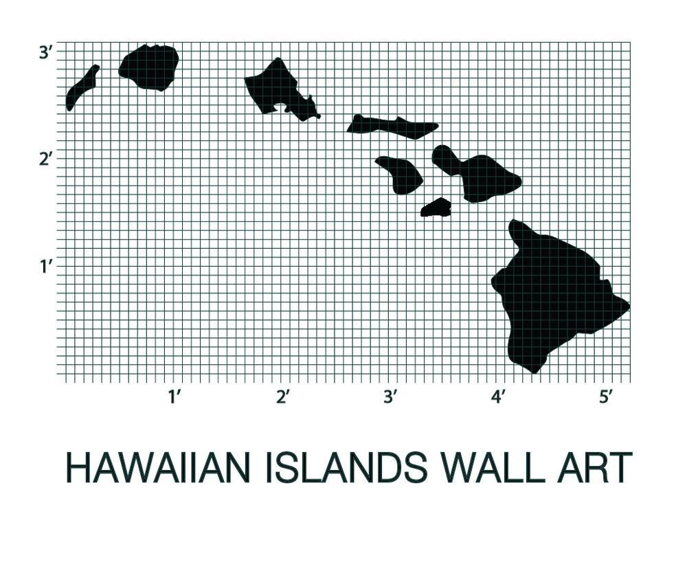 Hawaiian Islands Map | Picturesplusprints In Hawaiian Islands Wall Art (Image 5 of 20)