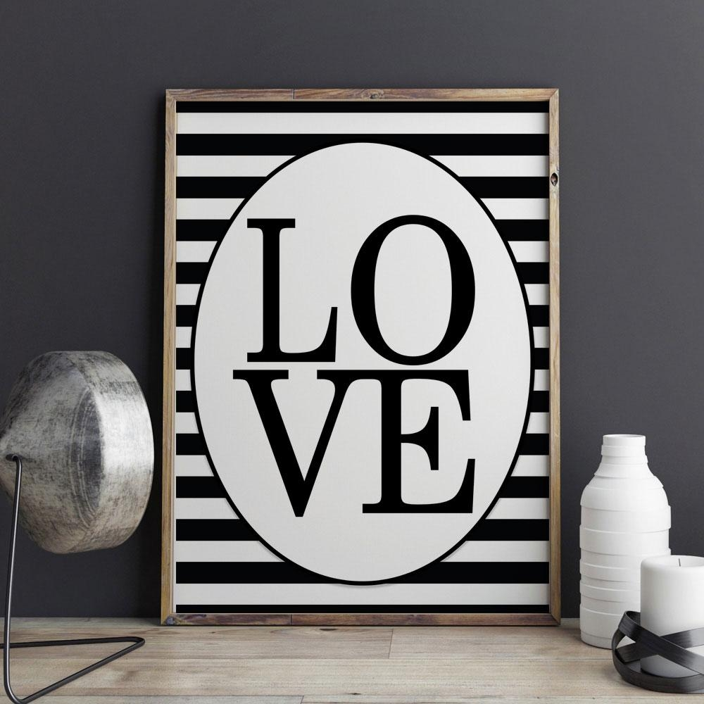 Featured Image of Black Love Wall Art