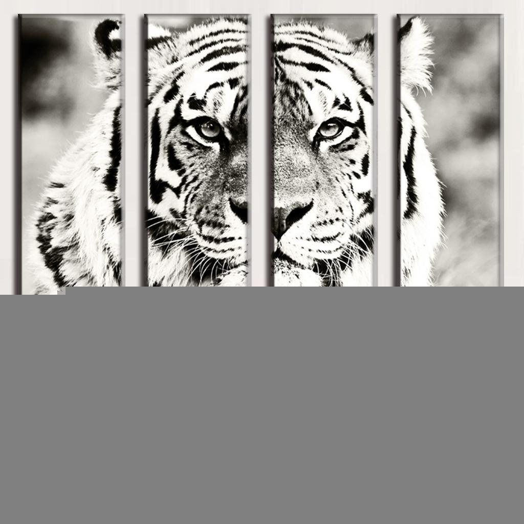 High Quality Wall Art Tigers Buy Cheap Wall Art Tigers Lots From Pertaining To Animal Canvas Wall Art (Image 11 of 20)