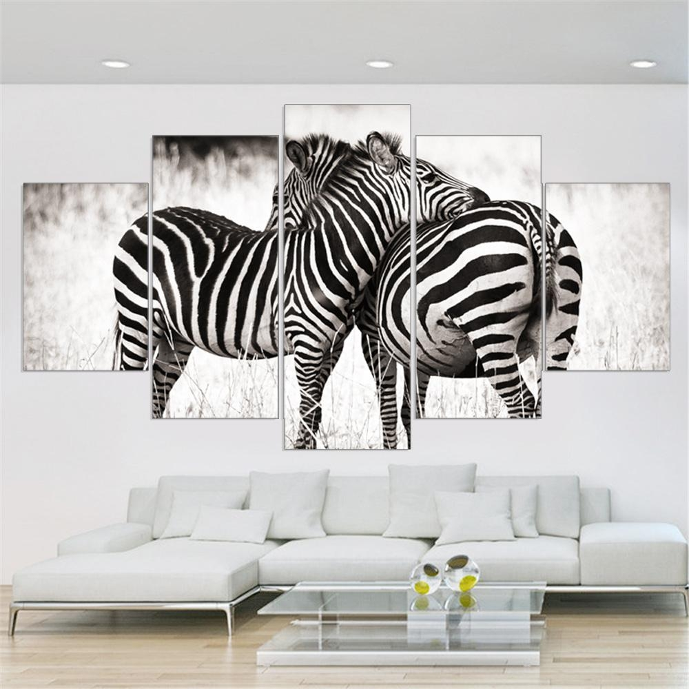 High Quality Zebra Print Canvas Wall Art Buy Cheap Zebra Print In Zebra Wall Art Canvas (Image 8 of 20)