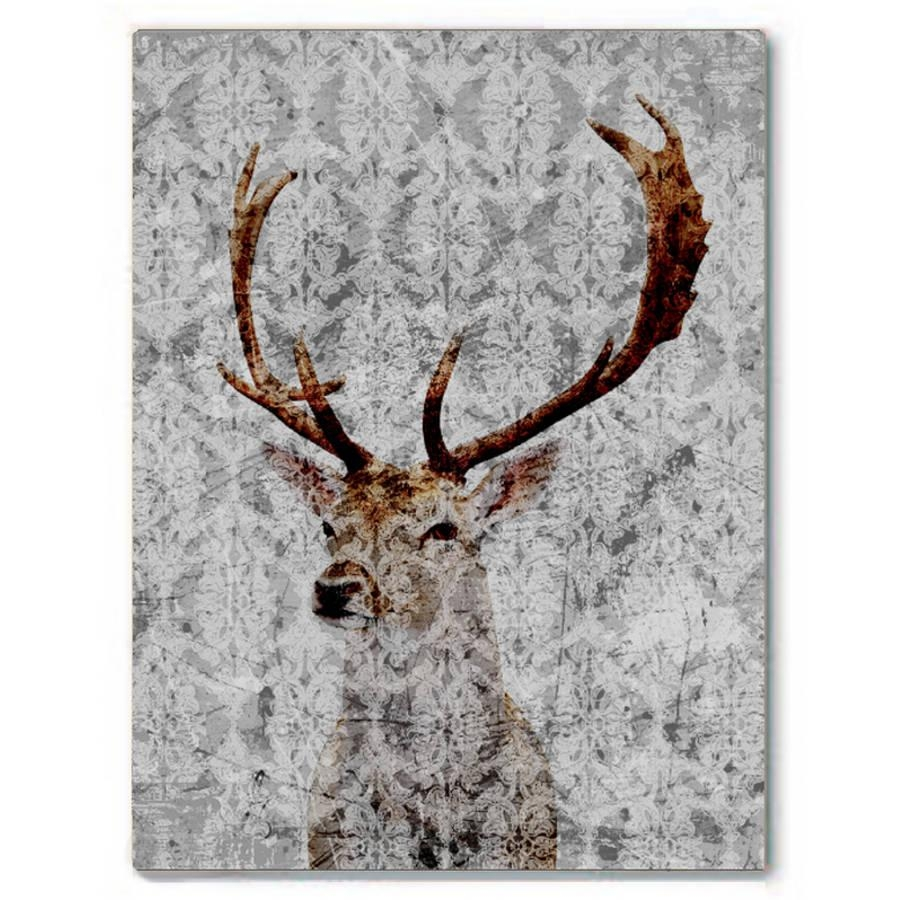 Highlands Stag Canvas Artpalm Valley | Notonthehighstreet pertaining to Stag Wall Art