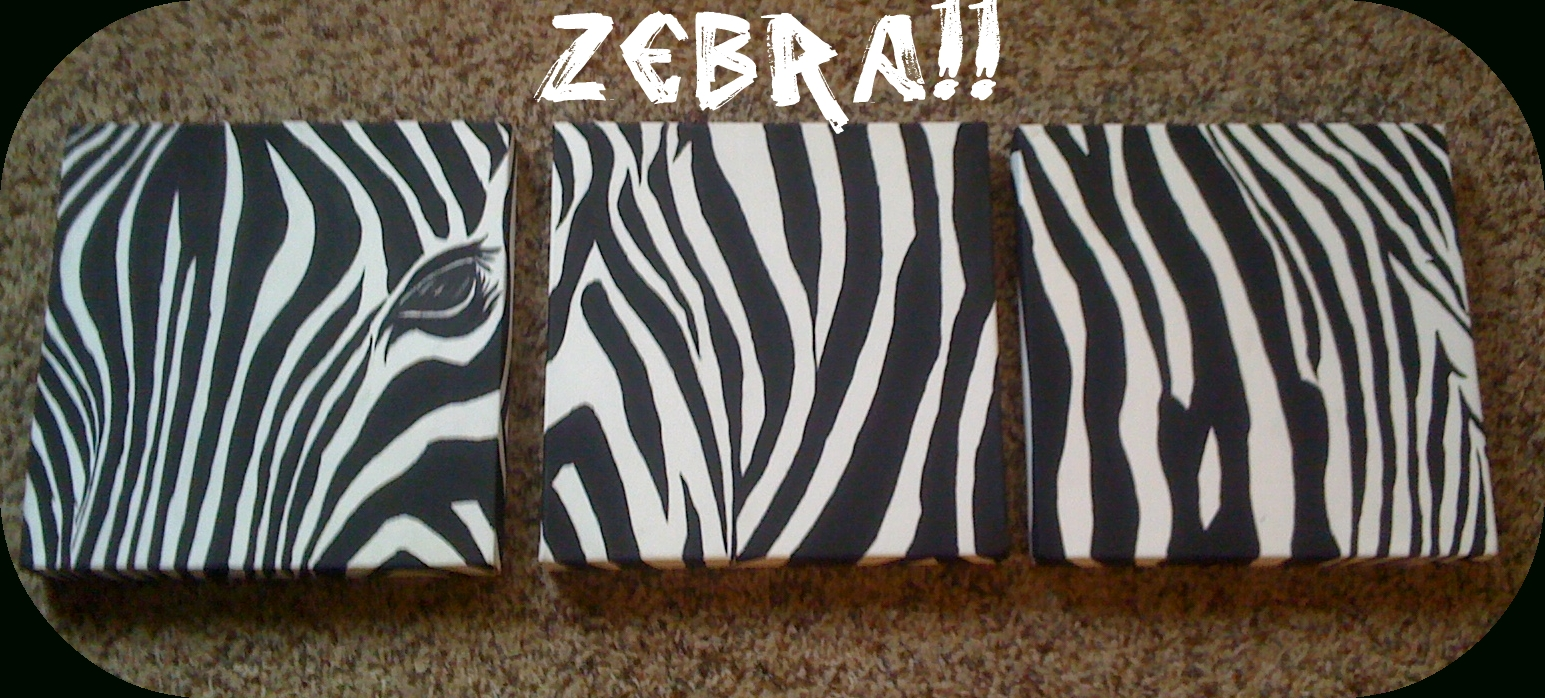 Holy Craft!!: Zebra Wall Art Throughout Zebra Wall Art Canvas (Image 9 of 20)