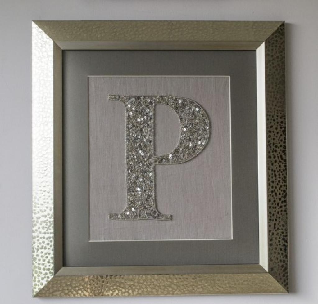 "Home Decor, 24"" Wooden Monogram, Wall Art, Initial Monogram Within Framed Monogram Wall Art (Image 8 of 20)"