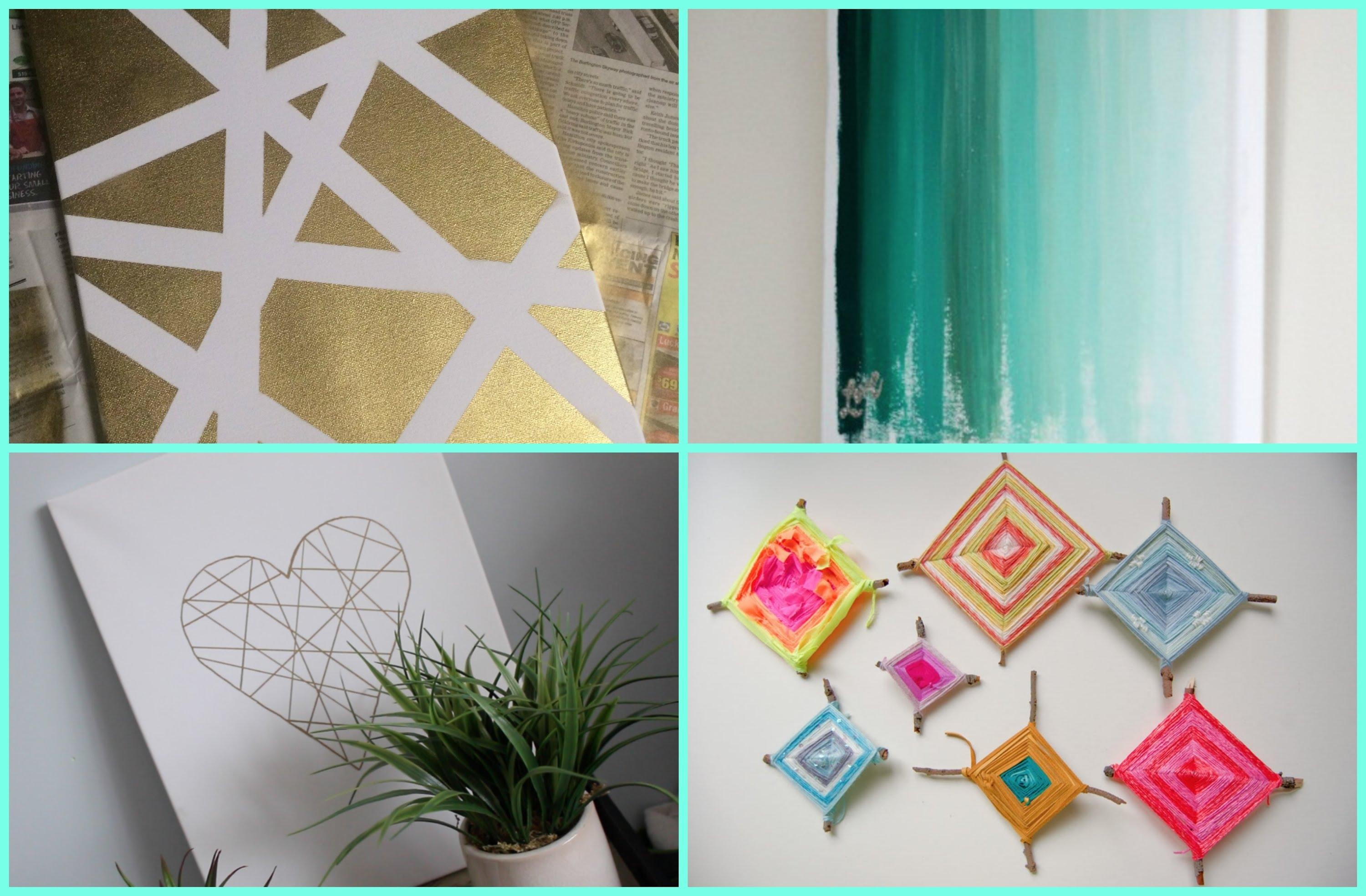 Home Decor: Diy Dorm Room Decor Wall Art Youtube For Wall Art For Teens (Image 11 of 20)