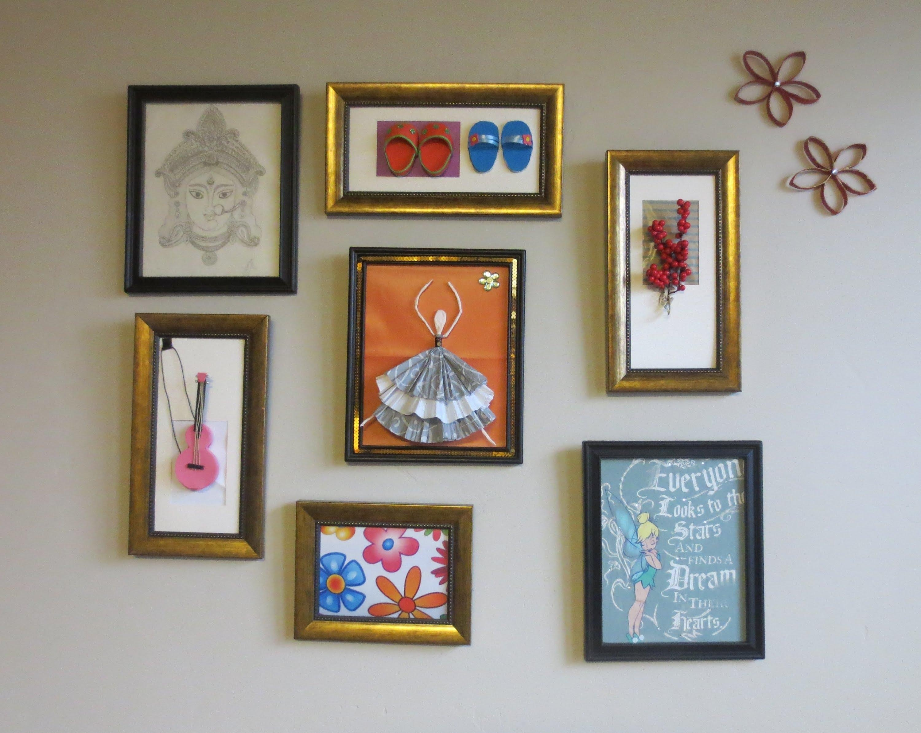 Home Decor : Tshirt Graphic & 3D Wall Art Picture Frame Collage Intended For Wall Art Frames (Image 13 of 20)