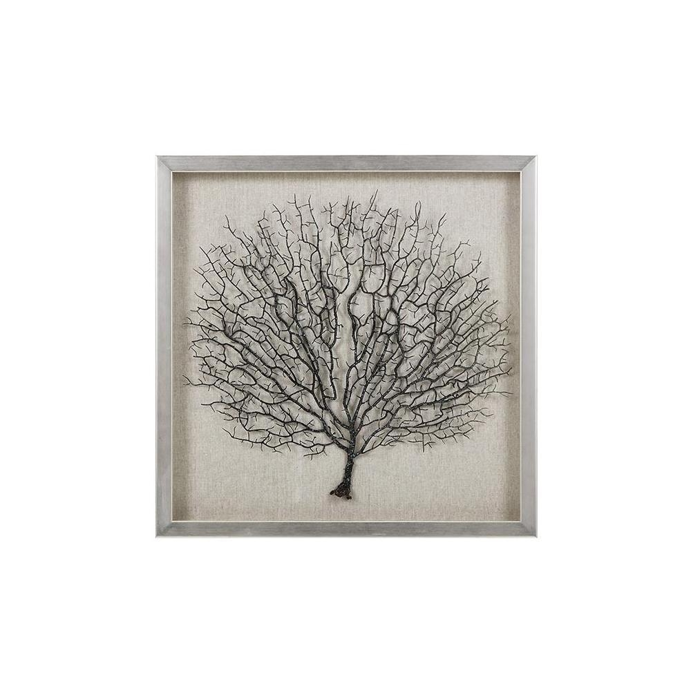"Home Decorators Collection 19.75 In. X 19.75 In. ""sea Fan Coral throughout Sea Fan Wall Art"