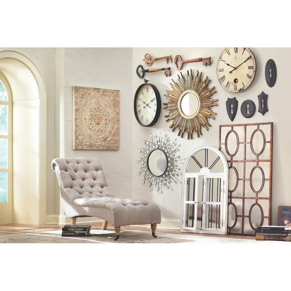 Home Decorators Collection Amaryllis Metal Wall Decor In inside Cream Metal Wall Art