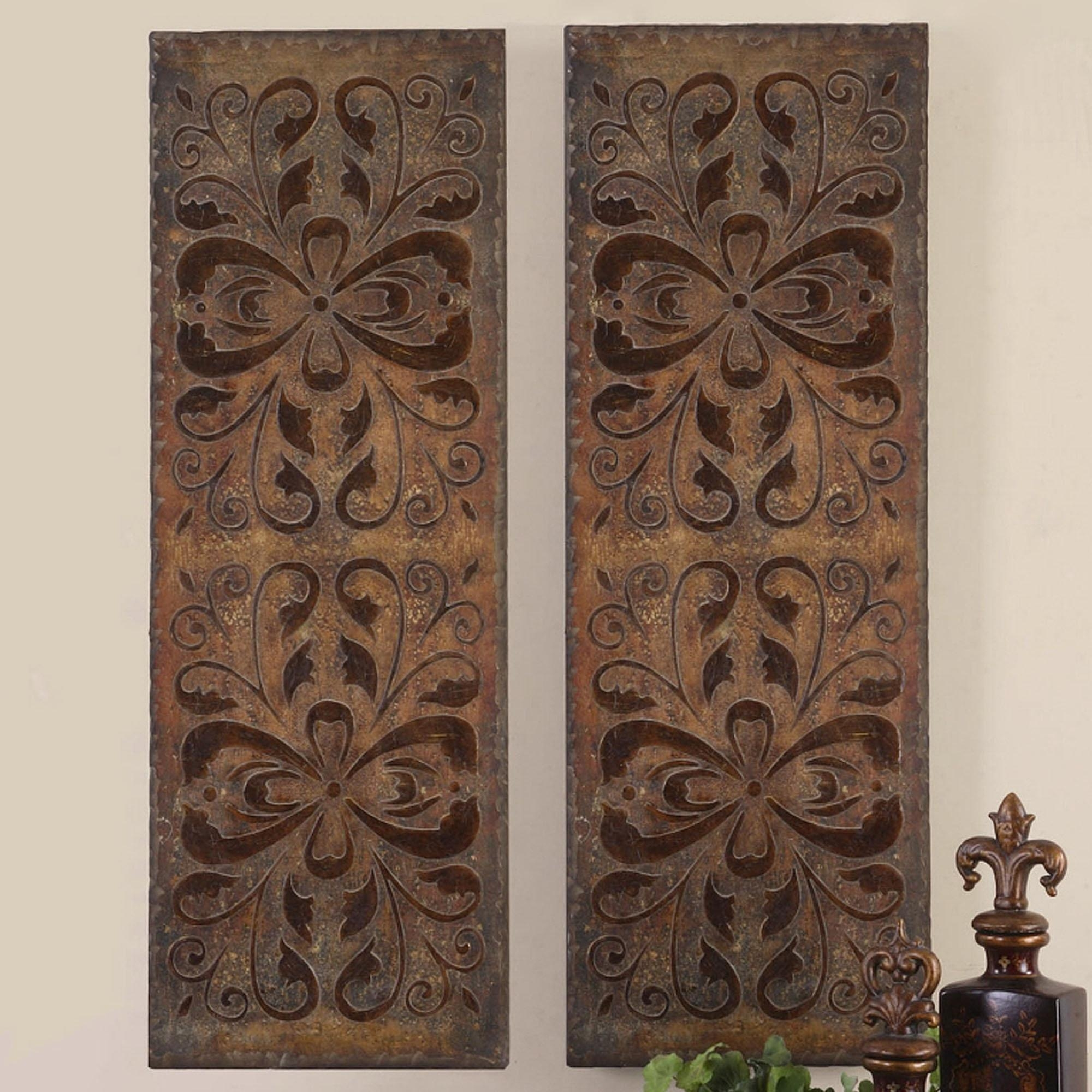 Home Design : Lovely Wood Panel Wall Decor 5 Carved Panels Art With Regard To Wood Carved Wall Art Panels (Image 8 of 20)