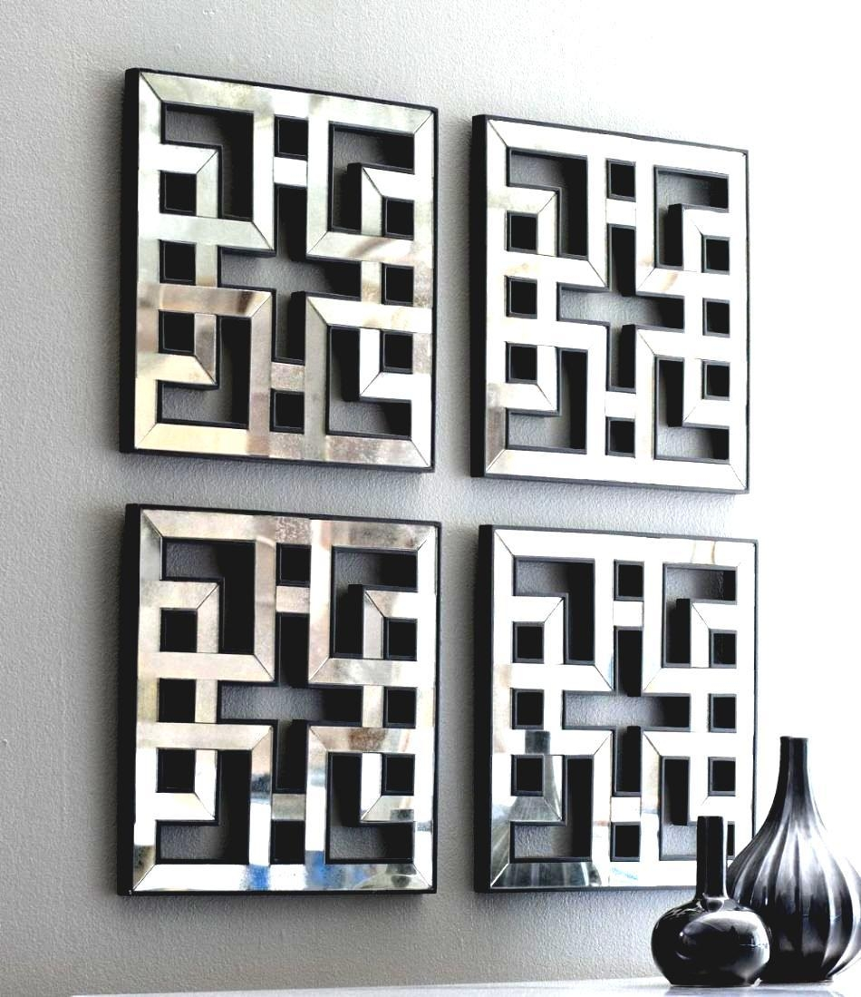 Home Garden Pictures Square Mirrors From Wall Art Designs Mirrored inside Fretwork Wall Art