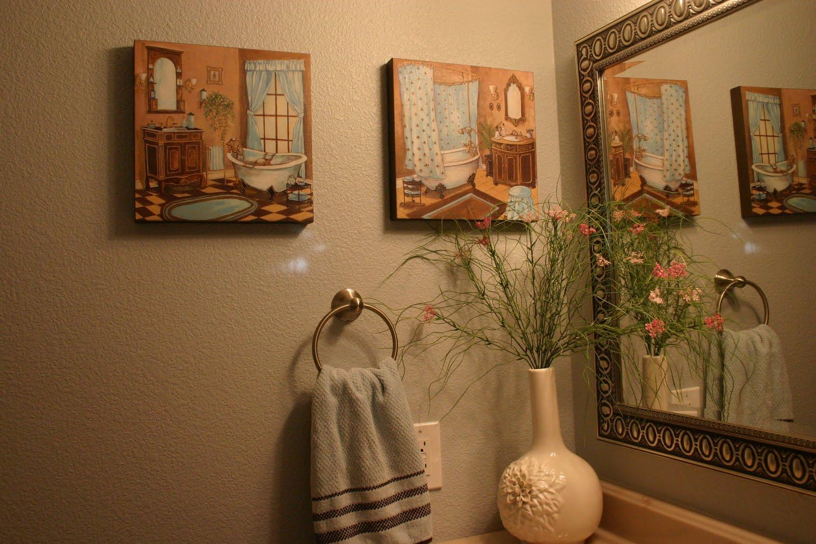 Home Is Where The Heart Is: ~French Blue Guest Bathroom~ Intended For Burlington Coat Factory Wall Art (View 4 of 20)