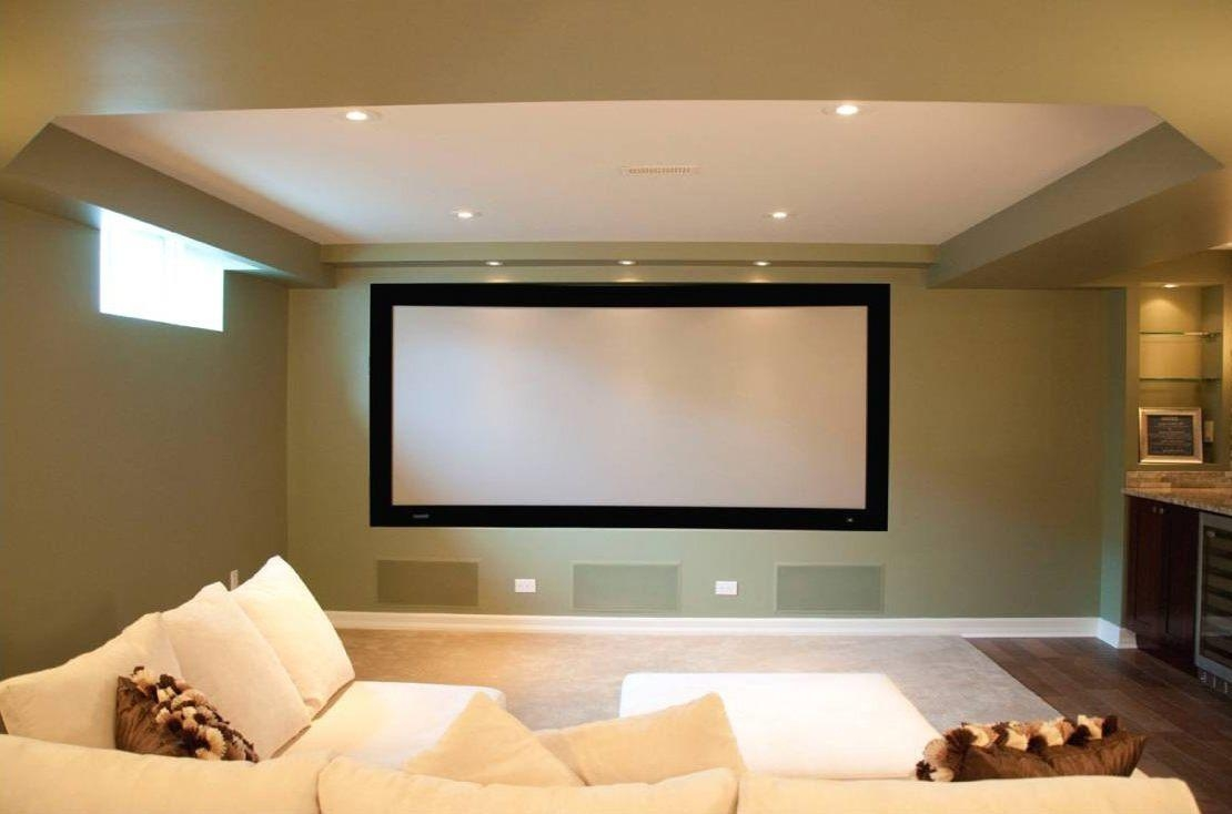 Home Theater In Basement The Floor Addedwall Light Black inside Home Theater Wall Art
