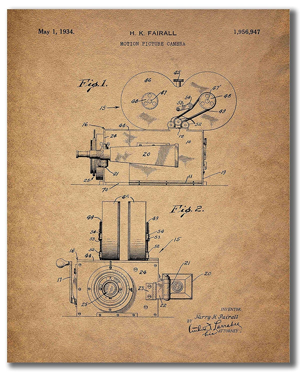 Home Theater Patent Wall Art Prints – Set Of Six Vintage Movie In Home Theater Wall Art (View 13 of 20)