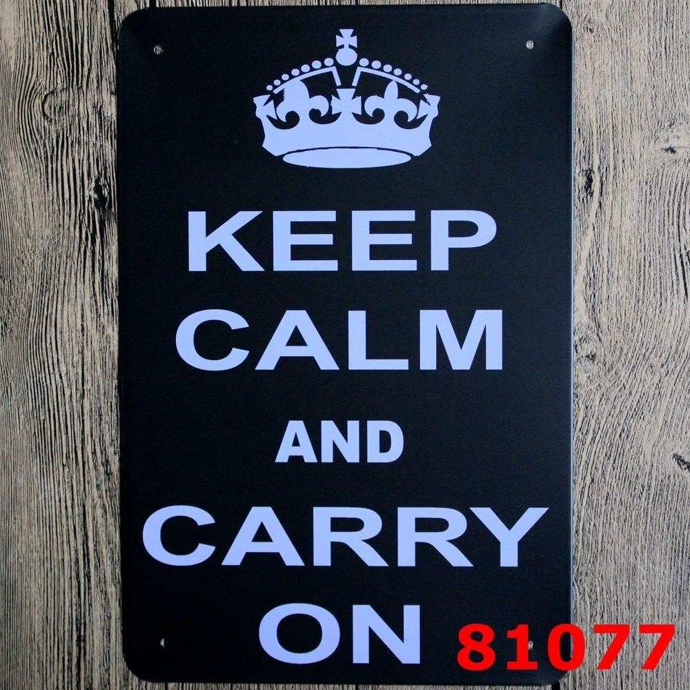 Home Wifi Quote Metal Signs Kitchen Pub Cafe Wall Art Decorative With Keep Calm And Carry On Wall Art (Image 2 of 20)