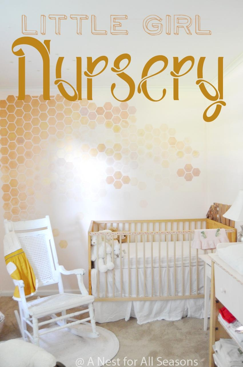 Honeycomb Wall Stencil Diy — Step 1 To A Girly Nursery! In Space Stencils For Walls (Image 12 of 20)