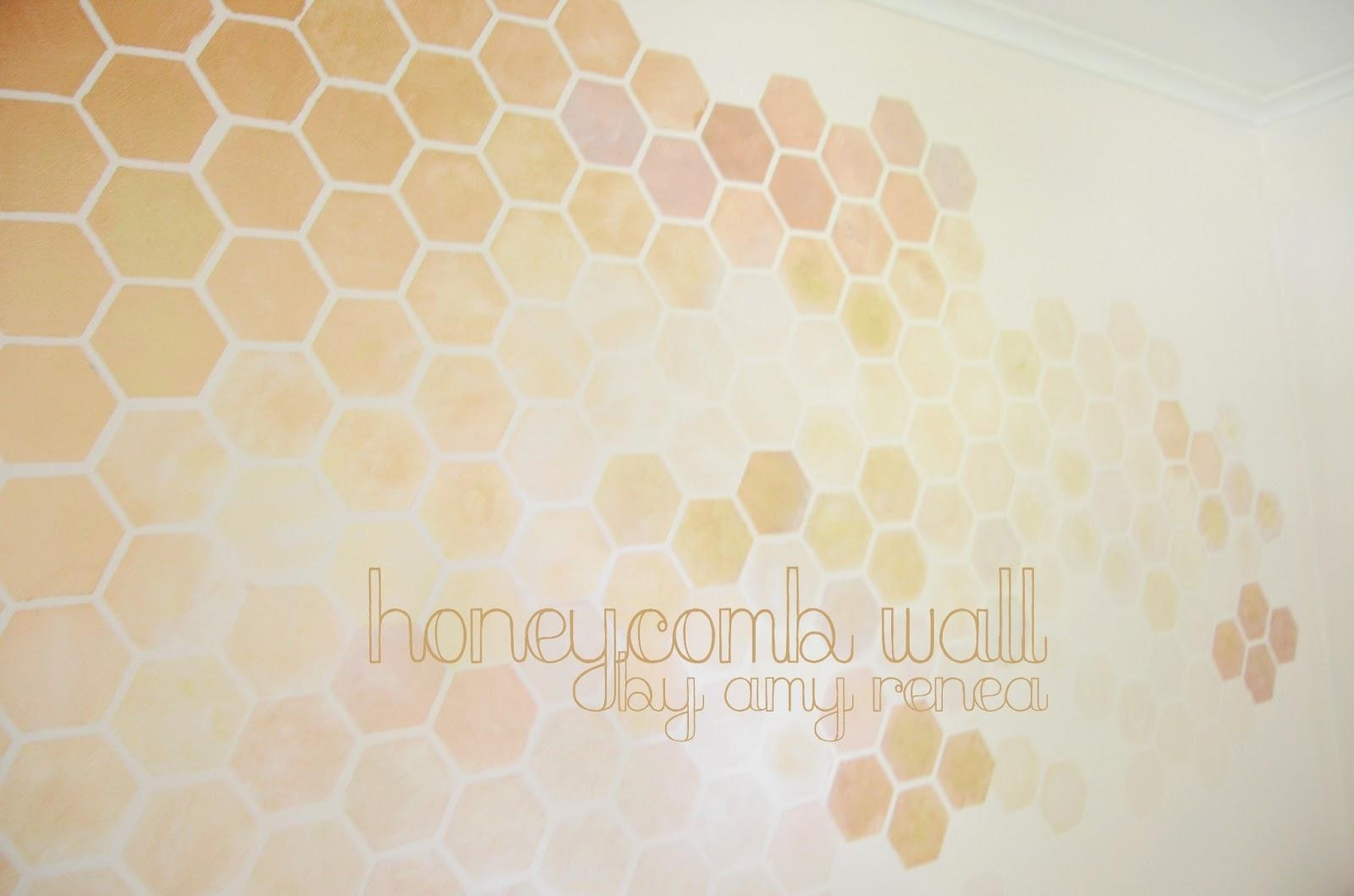 Honeycomb Wall Stencil Diy — Step 1 To A Girly Nursery! In Space Stencils For Walls (View 10 of 20)