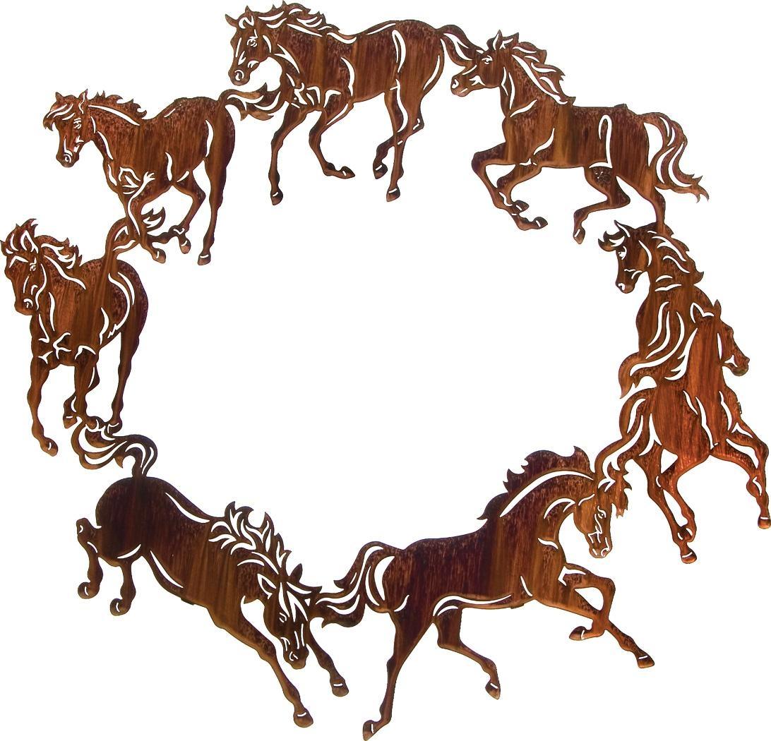 Horse Wall Art, Ponies Wall Hangings, Metal Wall Art Hangings for Lazart Metal Wall Art