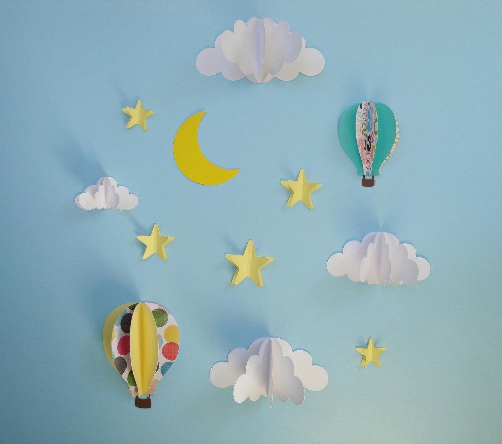 Paper Clouds Wall Decor : Top d clouds out of paper wall art ideas
