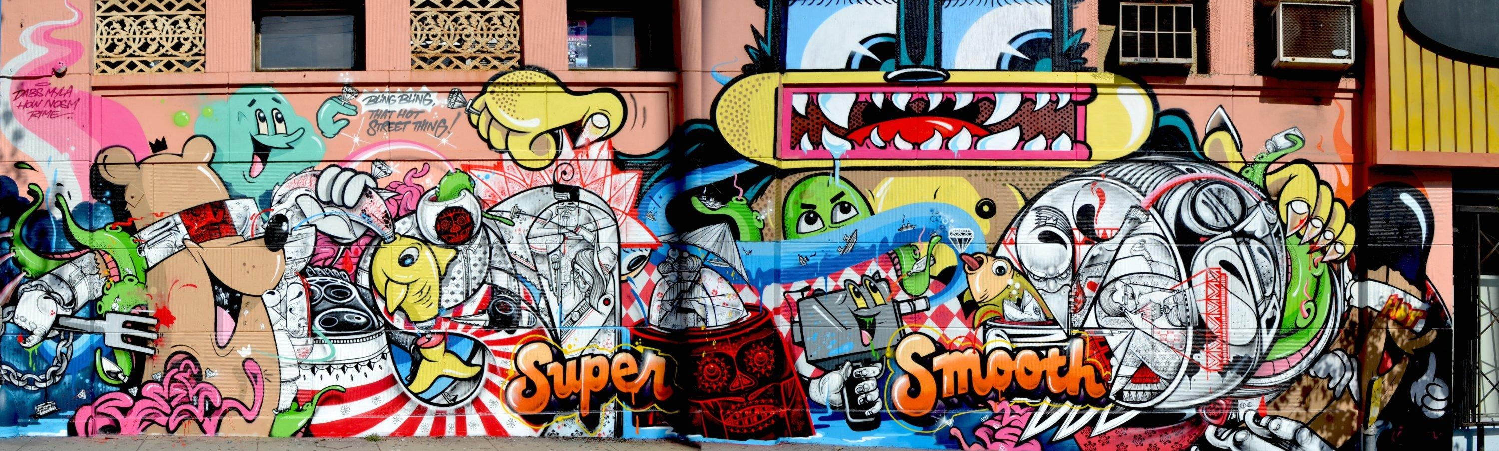 How & Nosm | Dabs & Myla | Jersey Joe New Mural Los Angeles In Los Angeles Wall Art (Image 6 of 20)