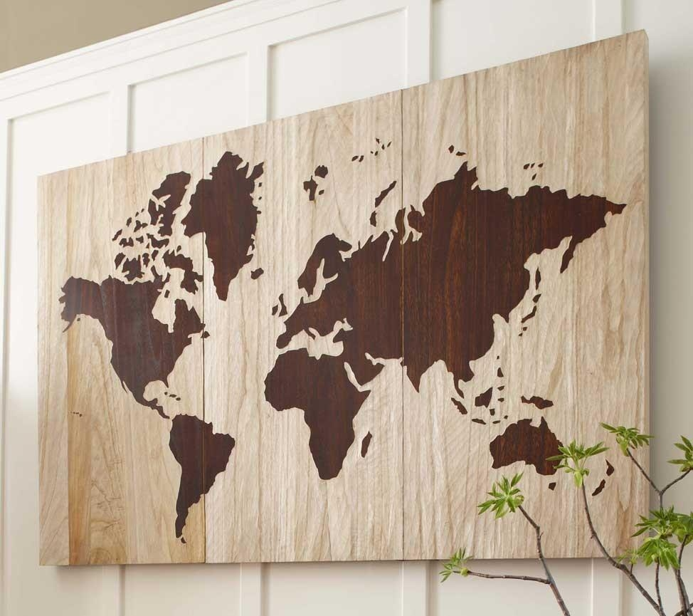 How To Create A World Map Wall Art Pertaining To Wooden World Map Wall Art (Image 6 of 20)
