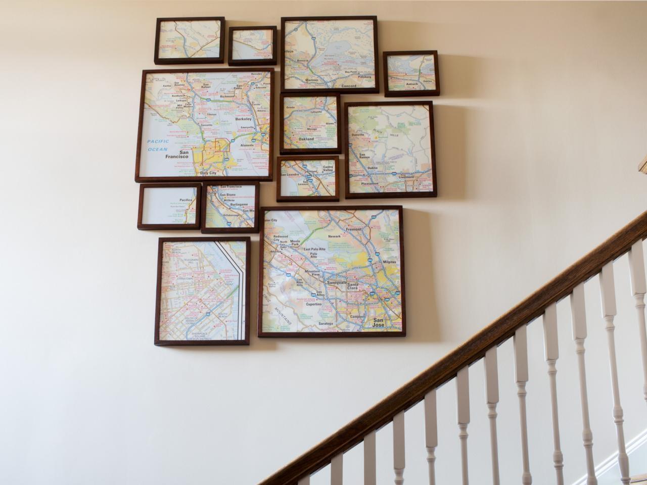 How To Create Fractured, Framed Map Art | Hgtv Regarding Framed World Map Wall Art (Image 7 of 20)