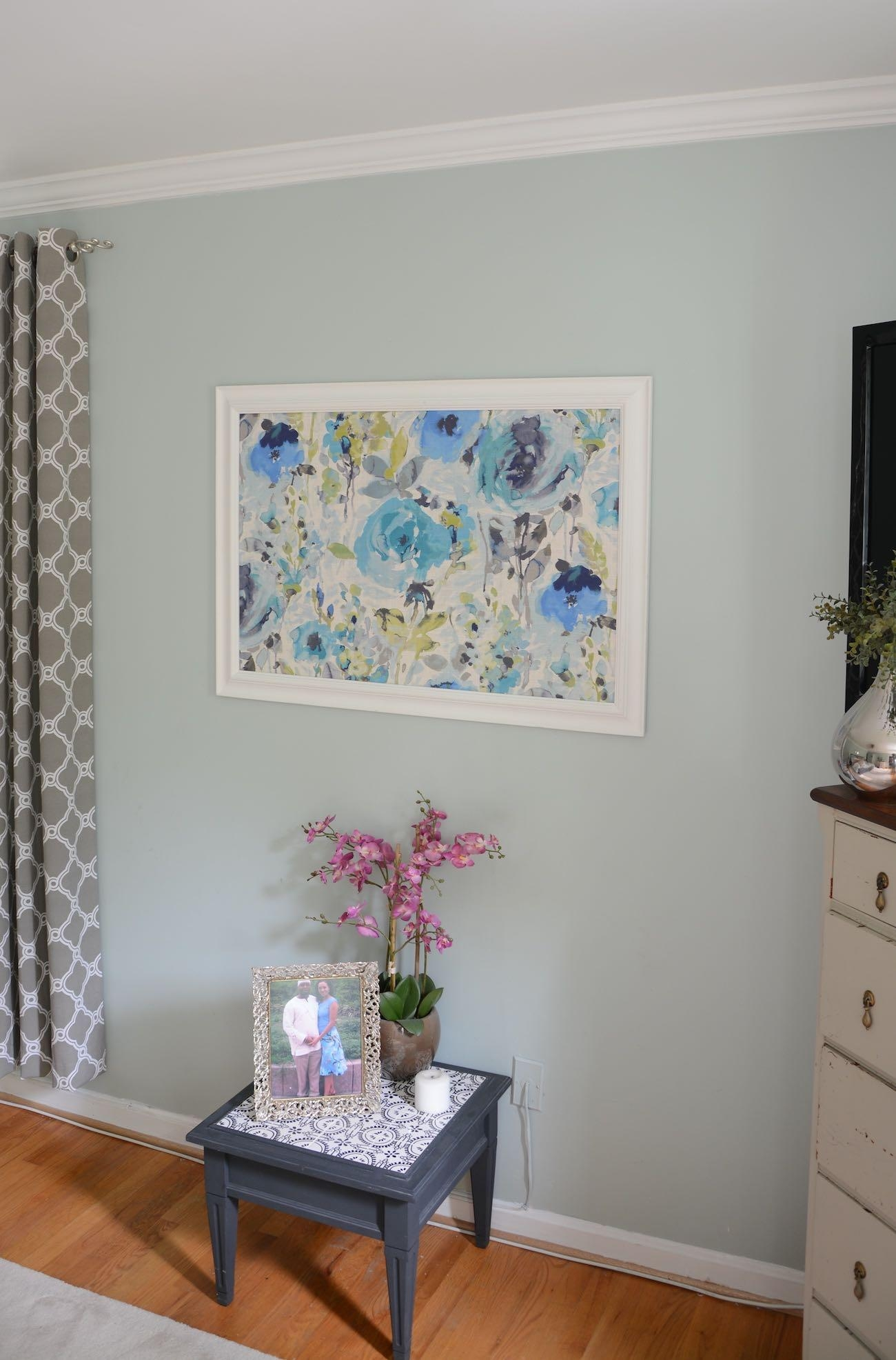 How To Frame Fabric For Wall Art With A Picture Frame Regarding Framed Fabric Wall Art (View 3 of 20)