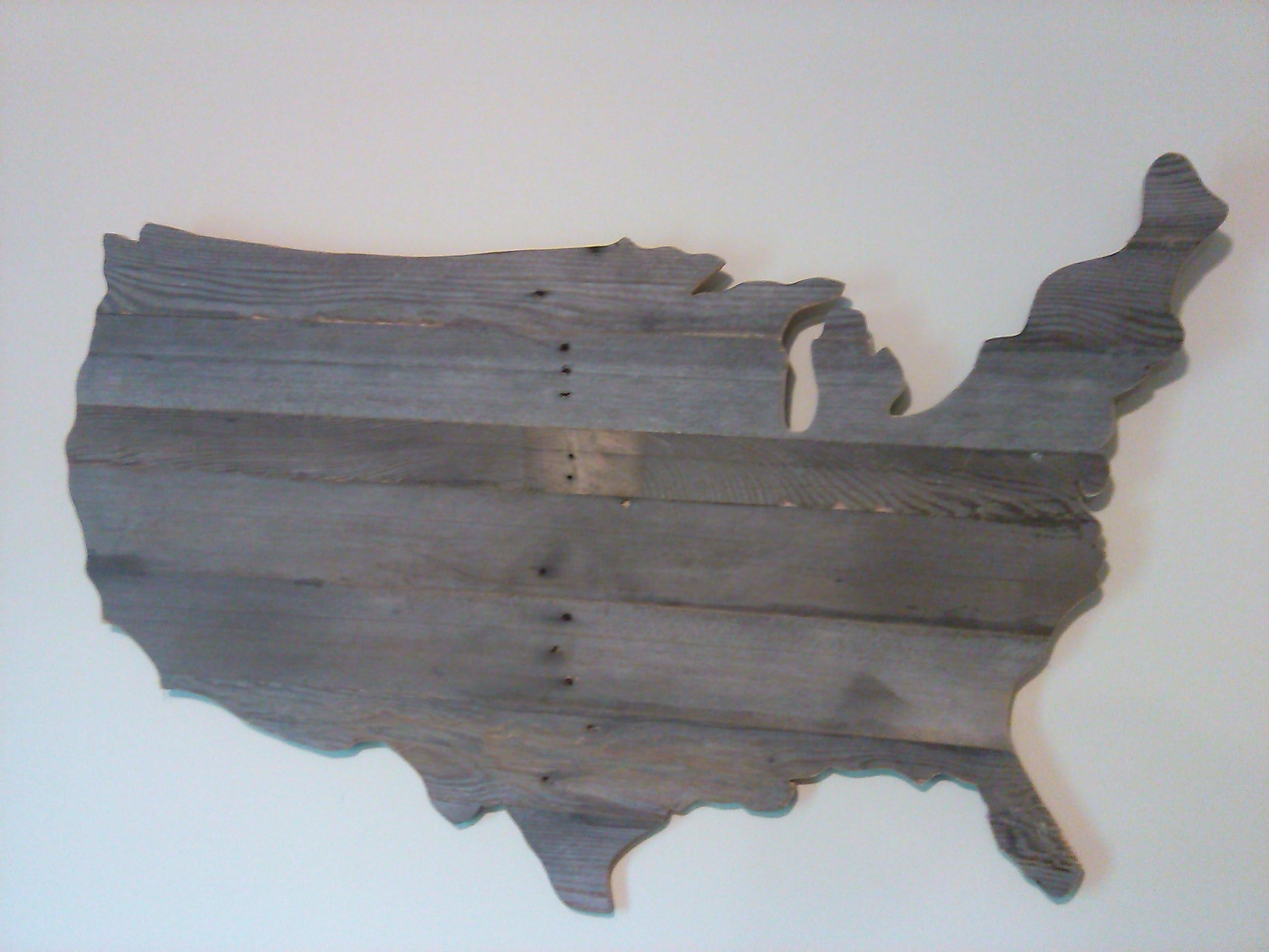 How To Make A Wooden Usa Map Wall Art Out Of Pallets – Youtube Inside Wooden World Map Wall Art (Image 7 of 20)