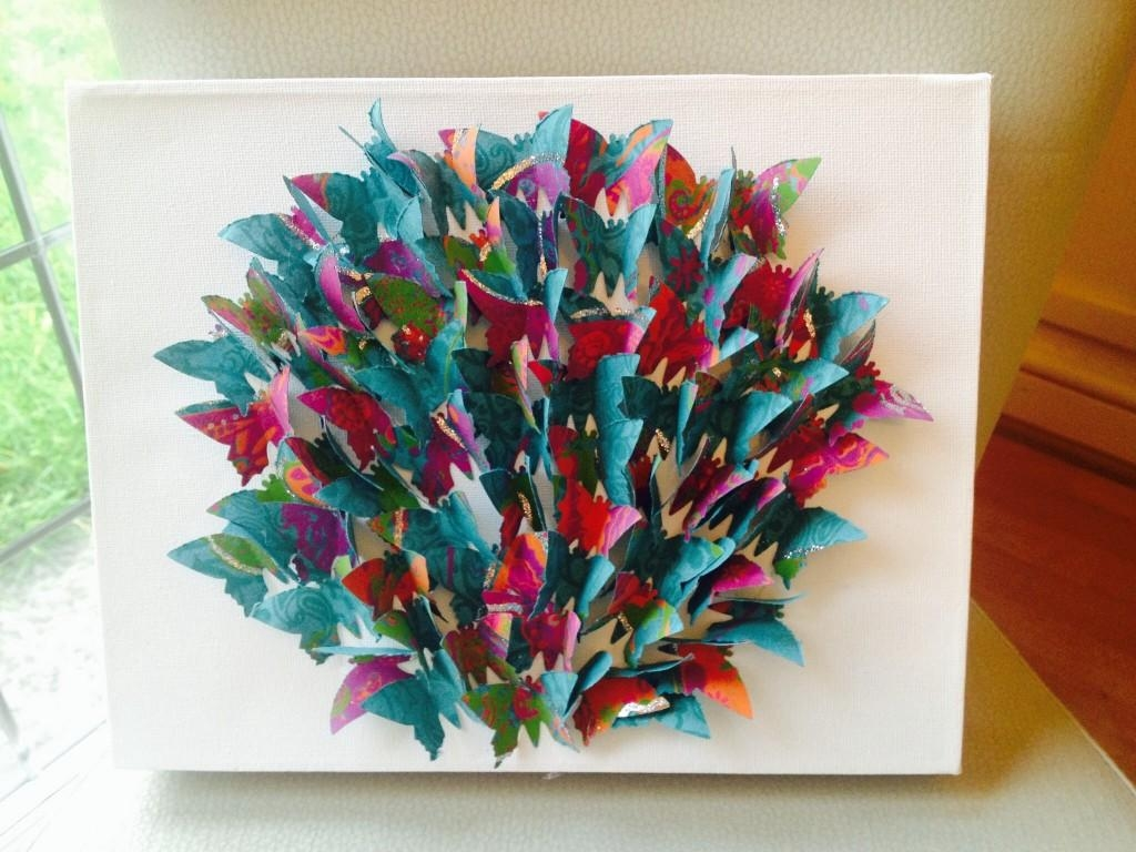 How To Make Butterfly Canvas Wall Art - Hobbycraft Blog regarding Butterfly Canvas Wall Art