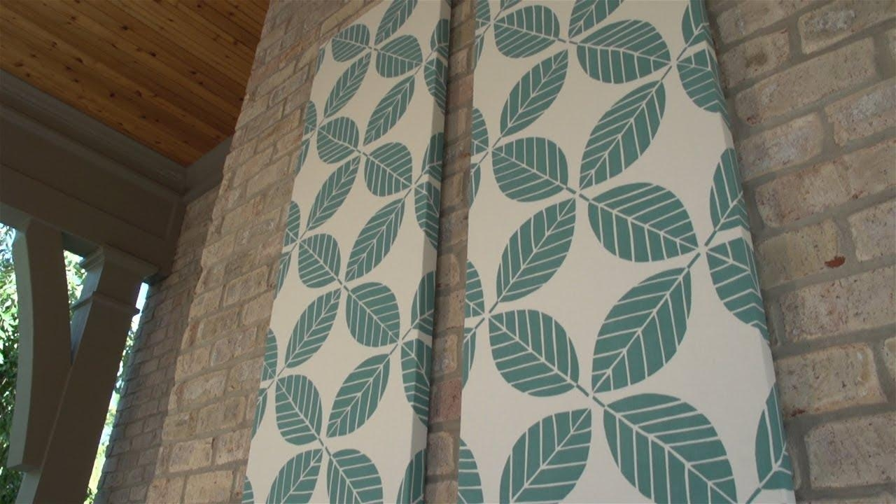 How To Make Outdoor Fabric Wall Art – Youtube In Stretched Fabric Wall Art (Image 13 of 20)