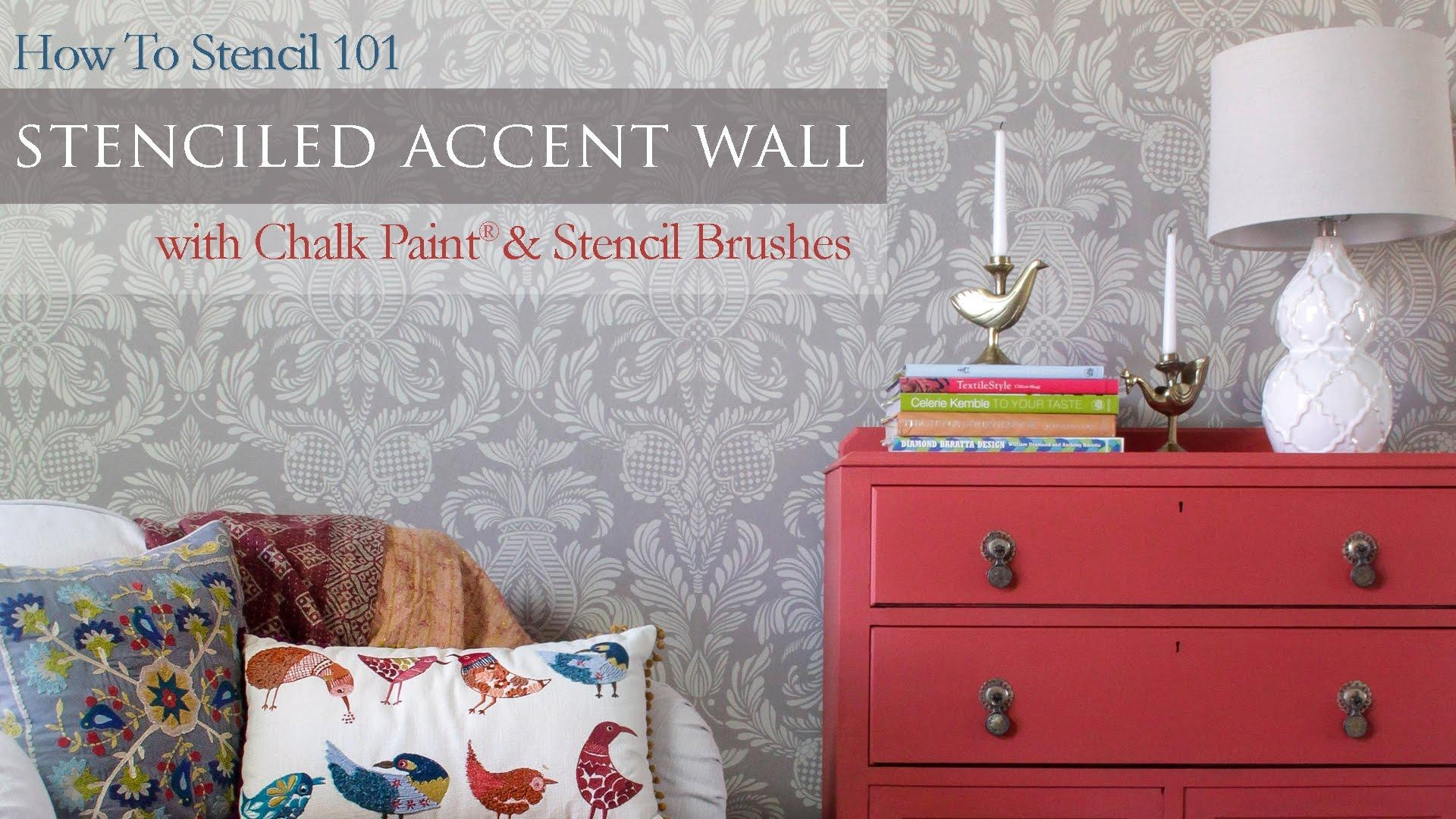 How To Stencil 101: Painting An Accent Wall With Wall Stencils And Intended For Space Stencils For Walls (View 2 of 20)