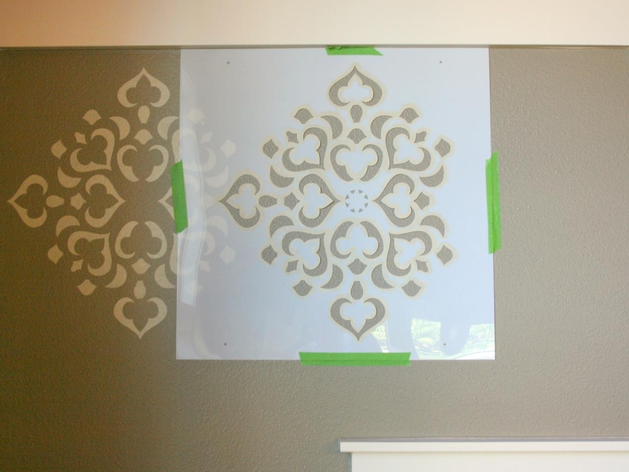 How To Stencil A Focal Wall | Hgtv In Space Stencils For Walls (View 6 of 20)