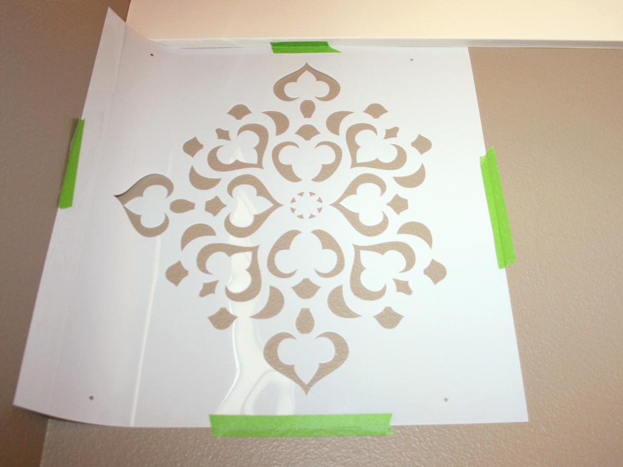 How To Stencil A Focal Wall | Hgtv Inside Space Stencils For Walls (Image 17 of 20)