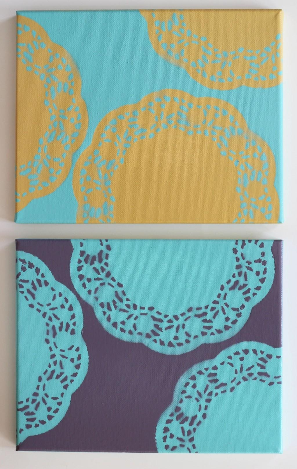 Howling Doilies As Wells As Easy Diy Wall Art Along With Easy Diy Pertaining To Small Canvas Wall Art (Image 10 of 20)