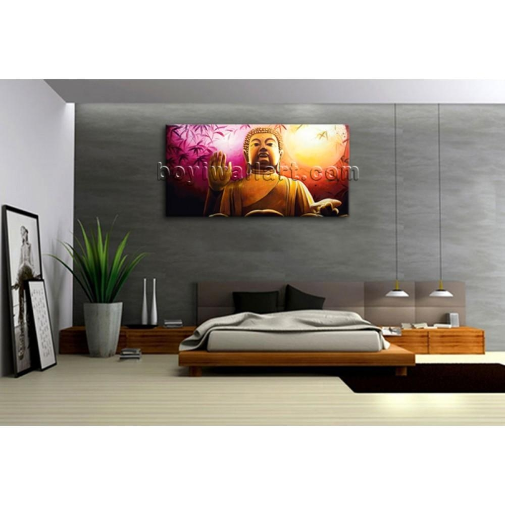 Huge Abstract Feng Shui Painting Print Canvas Wall Art Buddha Intended For Feng Shui Wall Art (Image 8 of 20)