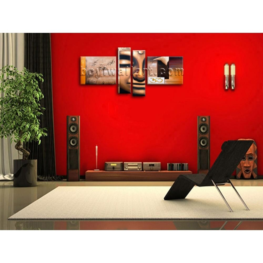 Huge Giclee Print Canvas Wall Art Buddha Feng Shui Contemporary With Large Buddha Wall Art (View 13 of 20)