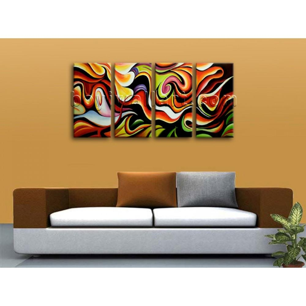 Huge Wall Art Abstract Painting Home Decoration Ideas Canvas Print In Huge Wall Art (Image 13 of 20)
