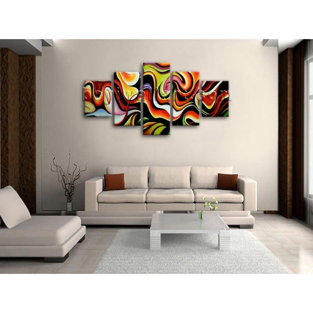 Huge Wall Art Abstract Painting Home Decoration Ideas Canvas Print within Huge Wall Art