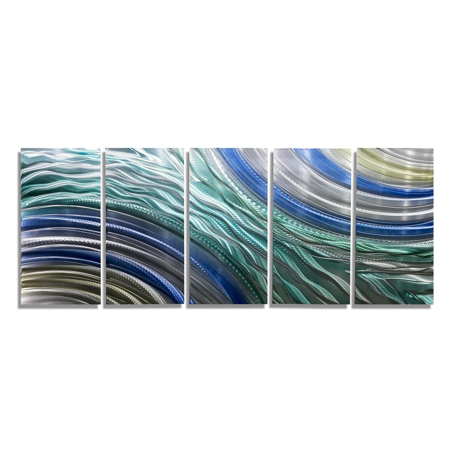 """Hydroelectricjon Allen – 64"""" X 24"""" In Blue And Silver Wall Art (Image 14 of 20)"""