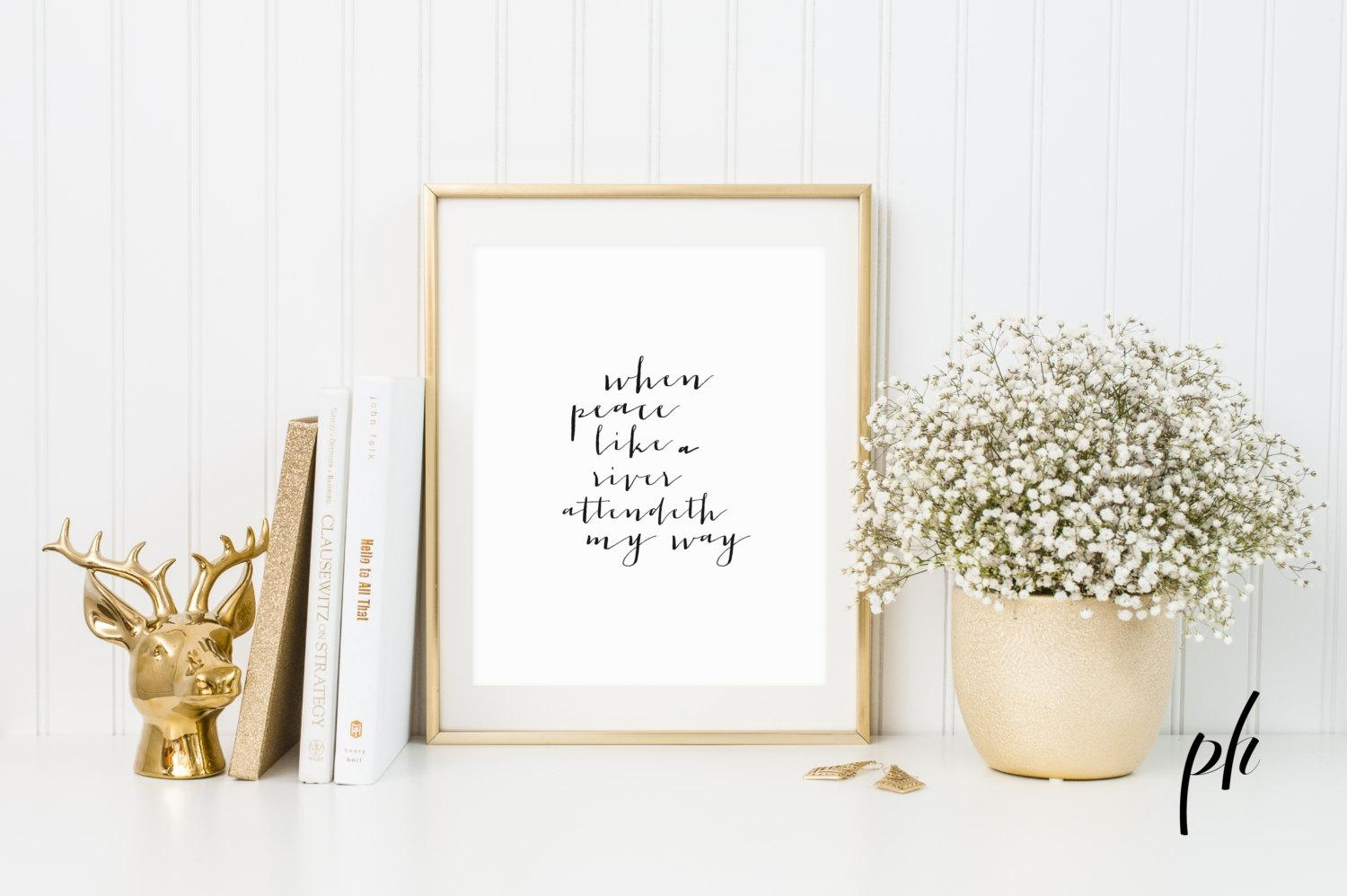 Hymn Print Hymns Hymn Art Hymns And Verses Calligraphy Throughout Bible Verses Framed Art (Image 15 of 20)