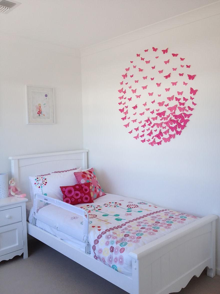 I Make 3D Paper Wall Decorations To Fix Boring, Flat Walls | Bored Regarding 3D Paper Wall Art (View 17 of 20)
