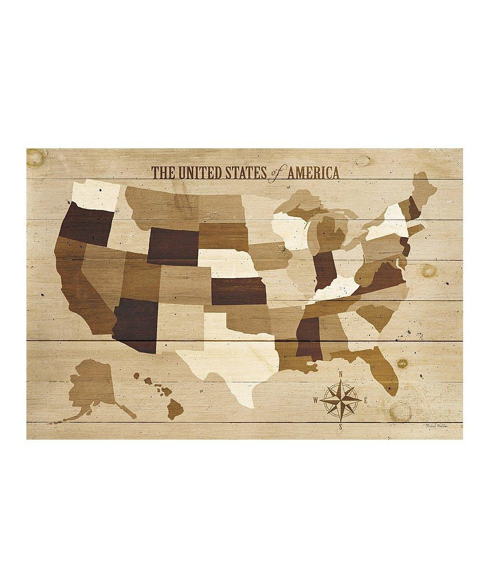 Icanvas Usa Modern Vintage Map Canvas Wall Art | Zulily With Regard To Us Map Wall Art (Image 9 of 20)