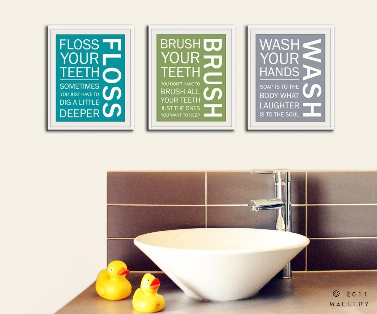Ideas For Cozy Bathroom Wall Decor — The Decoras Regarding Shower Room Wall Art (Image 16 of 20)