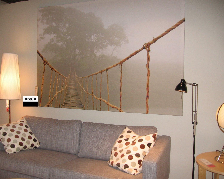 Ikea Premiar Jungle Journey Wall Art Print Huge Canvas Tree Bridge with regard to Jungle Canvas Wall Art