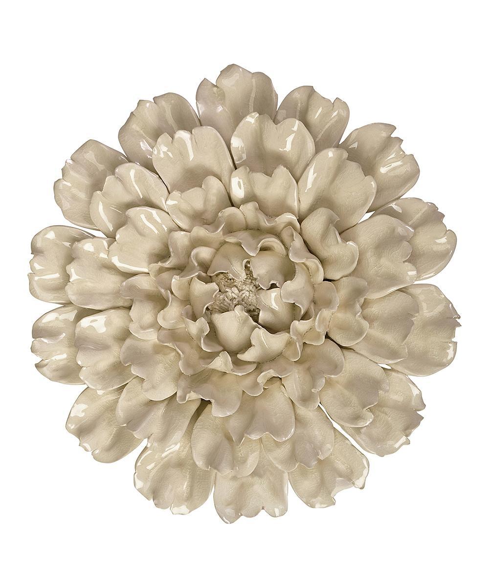 Imax Isabella Large Ceramic Flower Wall Art | Zulily within Ceramic Flower Wall Art